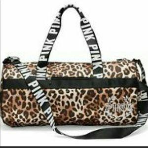 PINK VS animal  print cheetah sport duffel bag